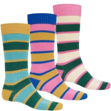 Pantherella Merino Wool Socks with Gift Box - Mid-Calf, 3-Pack (For Men) in Pink/Mustarad Knit Combo - Closeouts