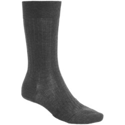 Pantherella Mid-Calf Dress Socks - Merino Wool Blend (For Men) in Dark Grey