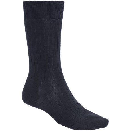 Pantherella Mid-Calf Dress Socks - Merino Wool Blend (For Men) in Black