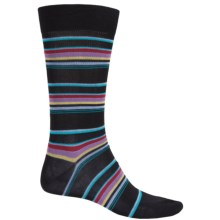 Pantherella Multi Thin-Stripe Socks - Over the Calf (For Men) in Black - Closeouts