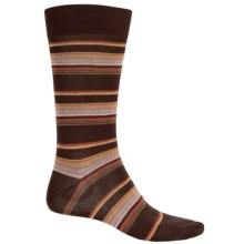 Pantherella Multi Thin-Stripe Socks - Over the Calf (For Men) in Chocolate - Closeouts