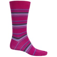 Pantherella Multi Thin-Stripe Socks - Over the Calf (For Men) in Magenta - Closeouts