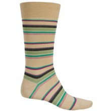 Pantherella Multi Thin-Stripe Socks - Over the Calf (For Men) in Natural - Closeouts
