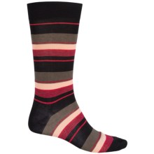 Pantherella Multi Wide-Stripe Knee-High Socks - Crewf (For Men) in Red/Black - Closeouts