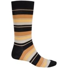 Pantherella Multi Wide-Stripe Knee-High Socks - Crewf (For Men) in Tan/Black - Closeouts