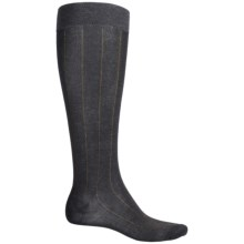 Pantherella Over-the-Calf Dress Socks - Egyptian Cotton (For Men) in Dark Grey Ribbed - Closeouts