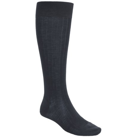 Pantherella Over-the-Calf Dress Socks - Merino Wool (For Men) in Black