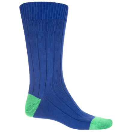 Pantherella Oxford Cotton-Blend Socks - Mid Calf (For Men) in Royal - Closeouts
