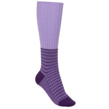 Pantherella Slouch Boot Socks - Wool-Cashmere, Over-the-Calf (For Women) in Lilac - Closeouts