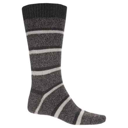 Pantherella Stoneywell Country Stripe Socks - Wool Blend, Mid Calf (For Men) in Charcoal - Closeouts