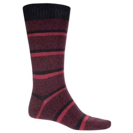 Pantherella Stoneywell Country Stripe Socks - Wool Blend, Mid Calf (For Men) in Chestnut - Closeouts