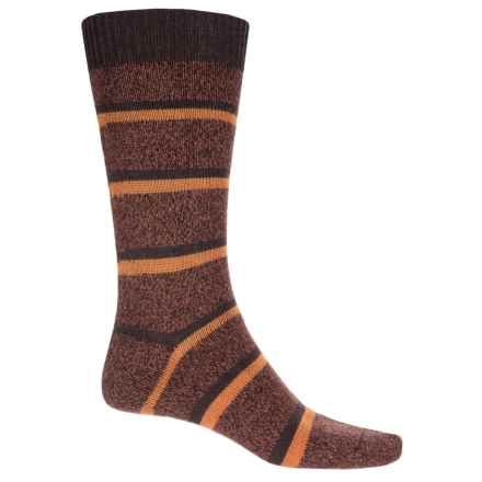 Pantherella Stoneywell Country Stripe Socks - Wool Blend, Mid Calf (For Men) in Conker - Closeouts