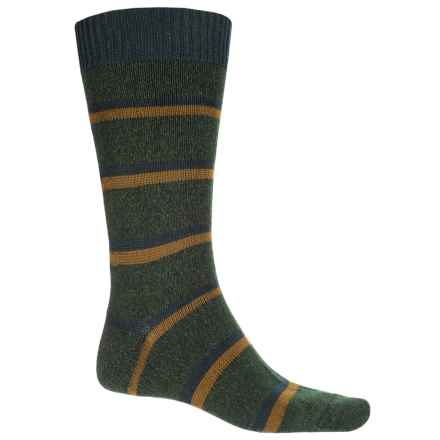 Pantherella Stoneywell Country Stripe Socks - Wool Blend, Mid Calf (For Men) in Forest - Closeouts