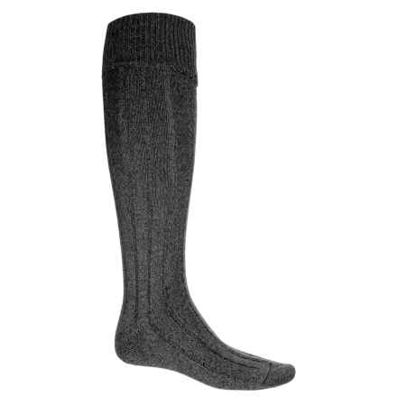 Pantherella Woolaton Welly Socks - Wool Blend, Over the Calf (For Men) in Charcoal - Closeouts