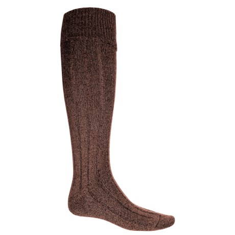 Pantherella Woolaton Welly Socks - Wool Blend, Over the Calf (For Men) in Conker