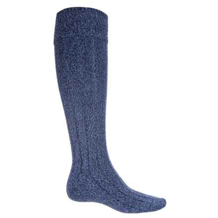 Pantherella Woolaton Welly Socks - Wool Blend, Over the Calf (For Men) in Denim - Closeouts