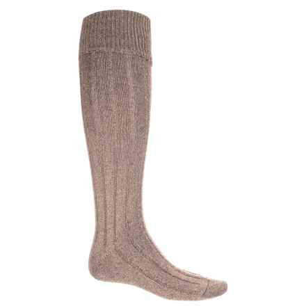 Pantherella Woolaton Welly Socks - Wool Blend, Over the Calf (For Men) in Oatmeal - Closeouts