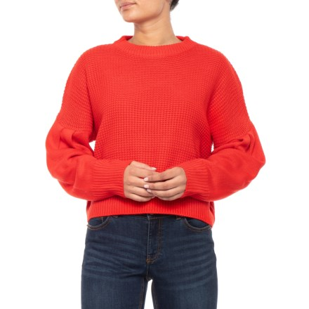 44bb9bbcdf9213 Paperheart Australian Designer Cropped Knit Sweater (For Women) in Red -  Closeouts