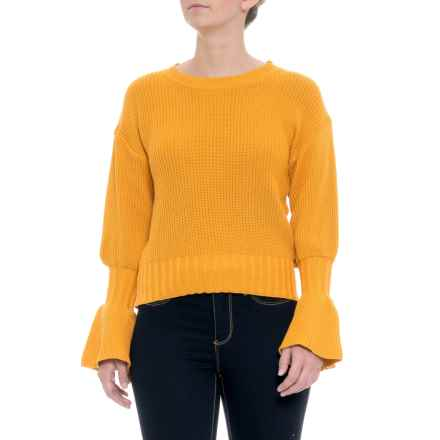 Paperheart Australian Designer Flare Sleeve Knit Sweater (For Women) in Yellow - Closeouts