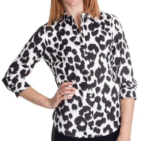 Paperwhite Animal Print Shirt - 3/4 Sleeve (For Women) in Multi Animal Print