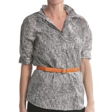 Paperwhite Cotton Dolman Shirt - Elbow Sleeve (For Women) in Multi - Closeouts