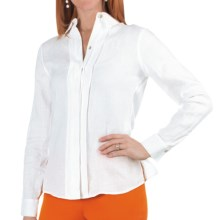 Paperwhite Garment-Washed Linen Shirt - Long Sleeve (For Women) in White - Closeouts