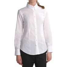 Paperwhite Latch Collar Shirt - Stretch Cotton, Long Sleeve (For Women) in White - Closeouts