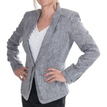 Paperwhite Linen Jacket (For Women) in Granite - Closeouts