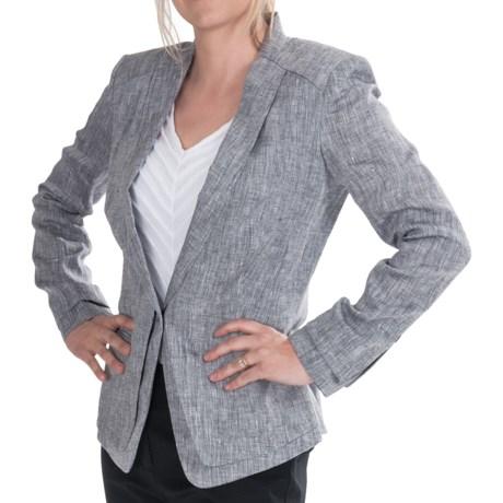 Paperwhite Linen Jacket (For Women) in Granite