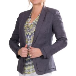 Paperwhite Linen Jacket (For Women) in Granite