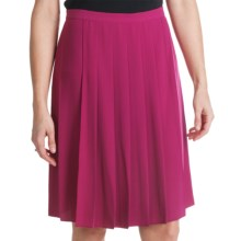 Paperwhite Pleated Crepe Skirt (For Women) in Wildberry - Closeouts