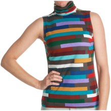 Paperwhite Printed Pullover Shirt - Sleeveless (For Women) in Multi Horizontal Colored - Closeouts