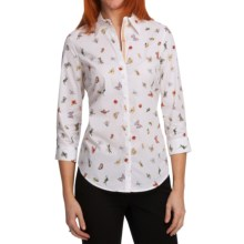 Paperwhite Printed Shirt - Stretch Cotton, 3/4 Sleeve (For Women) in Multi - Closeouts