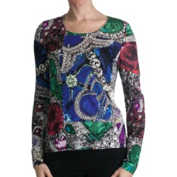 Paperwhite Pullover Printed Shirt - Long Sleeve (For Women) in Multi Paisley