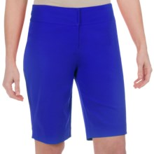 Paperwhite Shorts - Stretch Cotton (For Women) in Ultramarine - Closeouts
