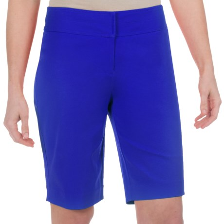 Paperwhite Shorts - Stretch Cotton (For Women) in Ultramarine