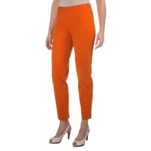 Paperwhite Stretch Cotton Crop Pants - Side Zip (For Women) in Sunkist - Closeouts