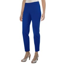 Paperwhite Stretch Cotton Crop Pants - Side Zip (For Women) in Ultramarine - Closeouts