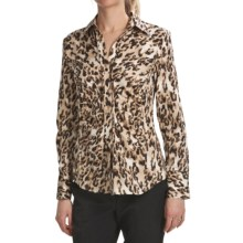 Paperwhite Stretch Cotton Sateen Shirt - Long Sleeve (For Women) in Brown Multi - Closeouts