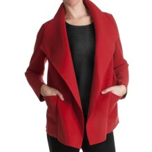 Paperwhite Waterfall Drape Front Jacket (For Women) in Red - Closeouts