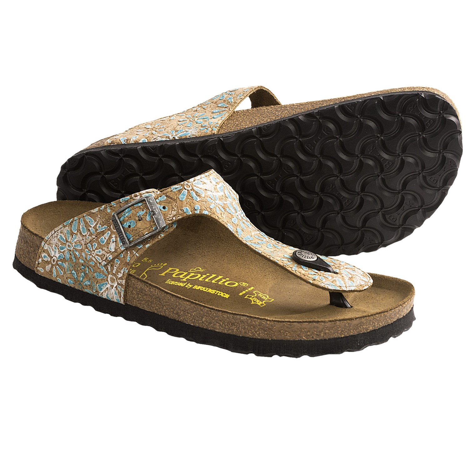 papillio by birkenstock gizeh sandals cork flower for women save 35. Black Bedroom Furniture Sets. Home Design Ideas