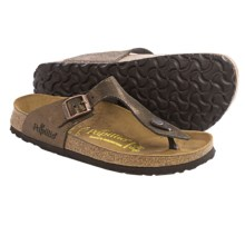 Papillio by Birkenstock Gizeh Sandals - Leather (For Women) in Shiny Brown - Closeouts