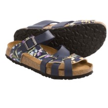Papillio by Birkenstock Pisa Sandals - Birko-flor® Simply Flowers, Soft Footbed (For Women) in Blue - Closeouts