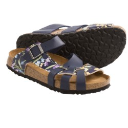 Papillio by Birkenstock Pisa Sandals - Birko-flor® Simply Flowers, Soft Footbed (For Women) in Blue