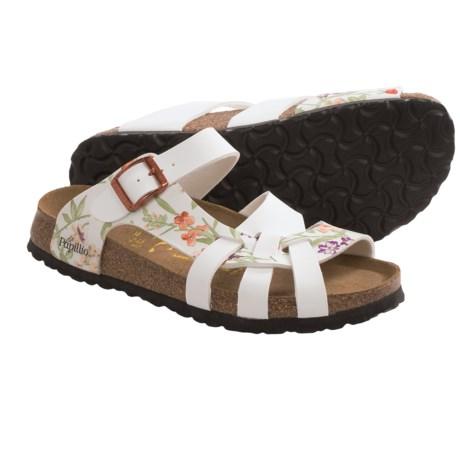 Papillio by Birkenstock Pisa Sandals - Birko-flor® Simply Flowers, Soft Footbed (For Women) in White