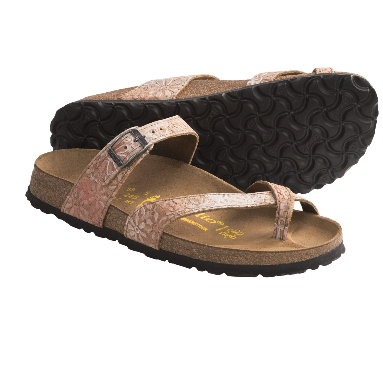 papillio by birkenstock tabora cork flower sandals for women save 35. Black Bedroom Furniture Sets. Home Design Ideas