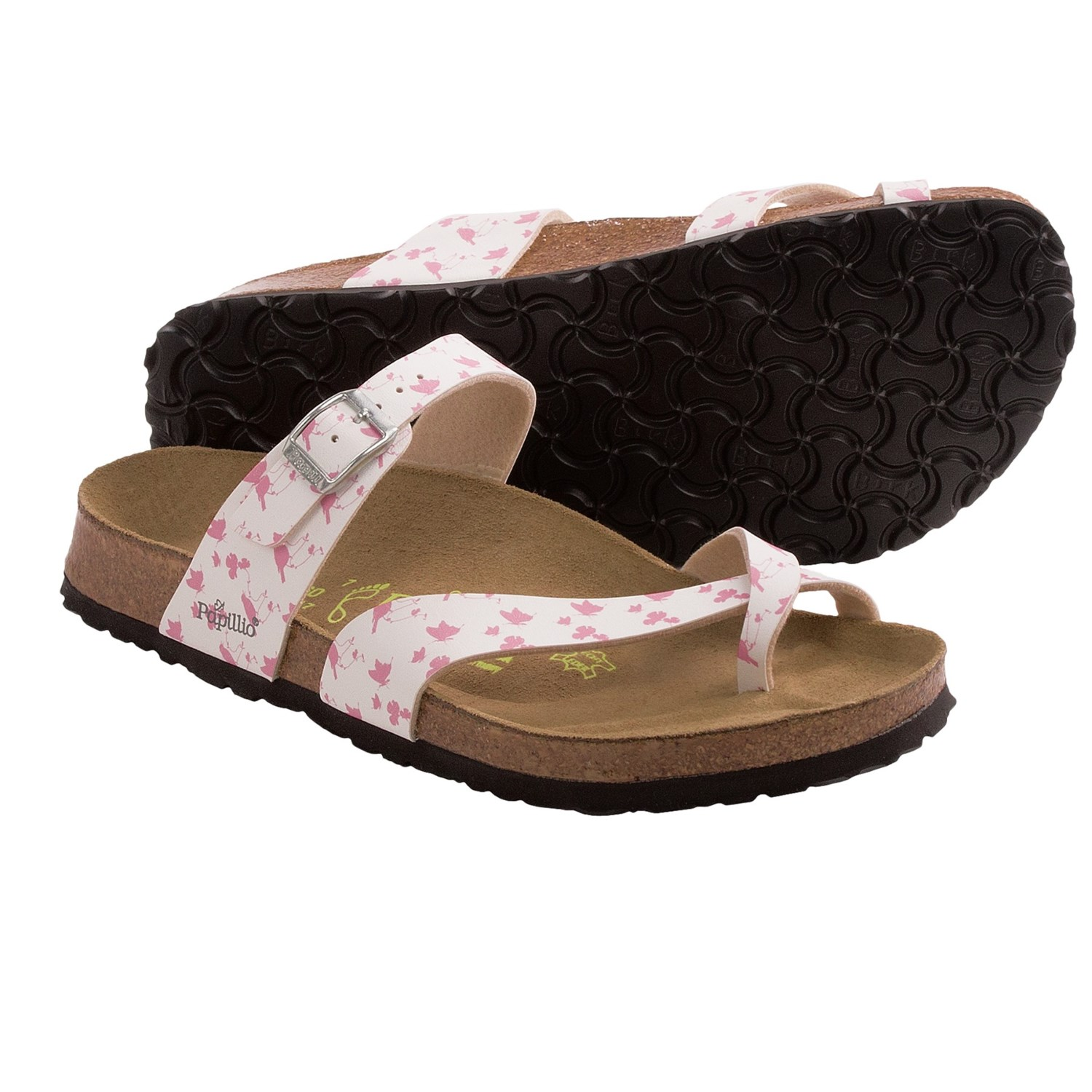 papillio by birkenstock tabora sandals birko flor birds butterflies for women save 27. Black Bedroom Furniture Sets. Home Design Ideas