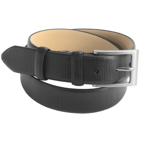 Paradise Blue Leather Belt (For Men) in Black