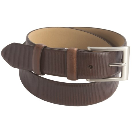 Paradise Blue Leather Belt (For Men) in Dark Brown