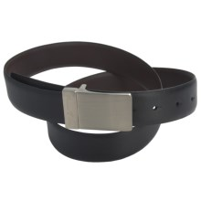 Paradise Blue Reversible Leather Belt (For Men) in Black/Brown - Closeouts